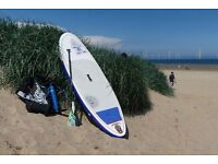 """Starboard Astro 9' x 30"""" inflatable SUP + Tiki Tech 3 piece travel paddle"""