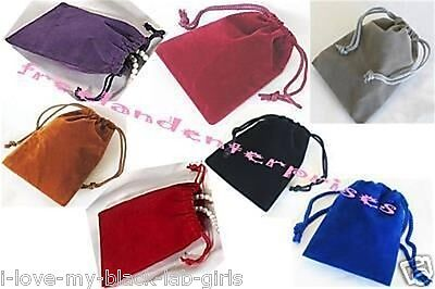 Jewelry Pouches Velour-velvet Type Pouches 1 Of Each X 7 Colors 3 X 4  7
