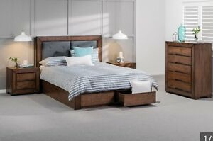 Queen size bed  suite + 2 bedsides + tallboy solid timber wood Adelaide CBD Adelaide City Preview