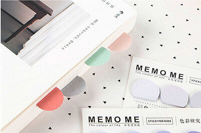 5 Color 150-page Bookmark Sticky Notes Sticker Marker Memo Flags Pastel