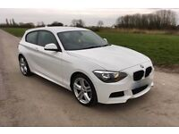 2012 62 BMW 118D M Sport in White - 17,000 miles/FBMWSH Immaculate