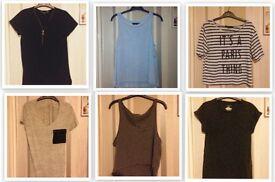 T-Shirt Top Bundle (sizes 6-12 Primark New Look H&M)