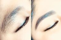 Eyebrows by threading