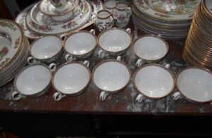 Copeland Spode Indian Tree Green and Pink Dinnerware Set Kingston Kingston Area image 10