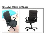 Black Swivel Chair (Ikea) - good condition