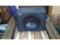 "Rrp£100+ MUTANT 12"" SUB / SUBWOOFER AND AMP / AMPLIFIER 600W HARDLY USED car,van modified"