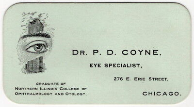Ophthalmology Re  Vintage Illustrated Business Card    Eye Specialist   Chicago
