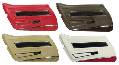 1977 Corvette Deluxe Door Panels with Lower Carpet Strips. New Pair!!! Deluxe Door Panel Carpet