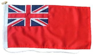 Red Ensign  sewn UK Manufactured MOD Woven Polyester Rope & Toggled