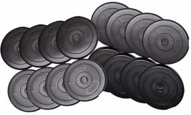Vinyl Weight Training Plates, Weight Plates Standard 1inch fitting: NEW