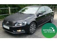 £163.17 PER MONTH BLACK 2012 VW PASSAT SPORT 2.0 BMT 4 DOOR DIESEL MANUAL