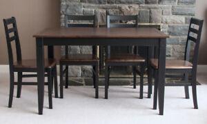 5 Piece Modern Refinished Dining Set
