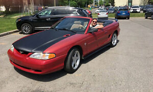 1995 Ford Mustang Convertible - Bas Km et aucune rouille
