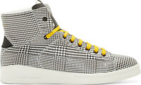 Alexander McQueen Black & White Prince of Wales Print High-Tops