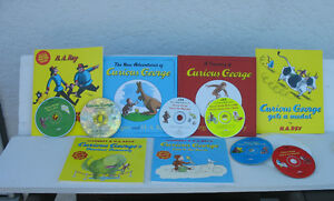 """""""Curious George""""  books and tapes - sold as a set"""