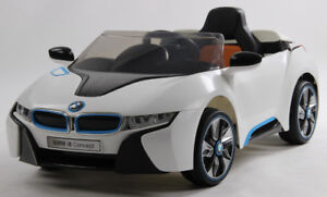 Licensed 12V BMW I8 Deluxe Child Ride-On Car with Leather Seat