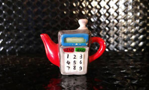 Miniature Red Rose Teapot - Cellular Phone 1983