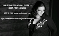 Singer/Piano Player for weddings, funerals, special services and