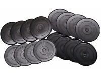 Vinyl Weight Training Plates, Weight Plates Standard 1 inch fitting