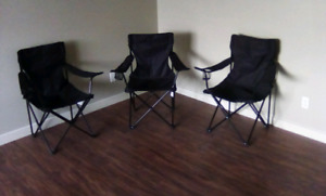Collapsible Chairs Set Of 3. OKOTOKS