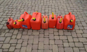 Lot of Jerry Gas cans