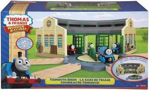 BRAND NEW Wooden Railway Thomas Roundhouse Tidmouth Sheds Seven Hills Blacktown Area Preview
