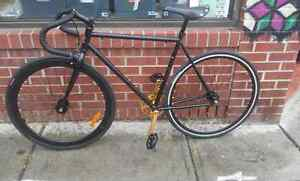 Great looking Fixie Bike Gold/black Damco frame single speed