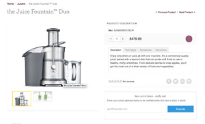 Breville- the Juice Fountain™ Duo - juicer