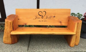 picnic tables and outdoor benches