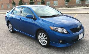 2009 Toyota Corolla S Sedan LOADED 153244KM $6600 AUTO CLEAN CAR