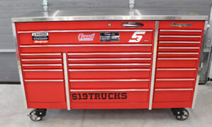 "Snap-On Tool Box KRL1023 72"" 3 Bank Red Steel Top GODERICH"