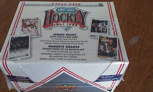 Boite Jumbo 1991-92 upper deck hockey sceller