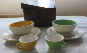 Small set of 2 Pastel plates, bowls and cups from Ikea