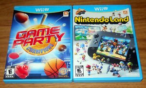 Wii U games: Nintendo Land & Game Party: Champions