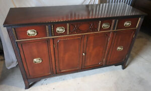Elegant antique sideboard, solid mahogany, refinished (Delivery)