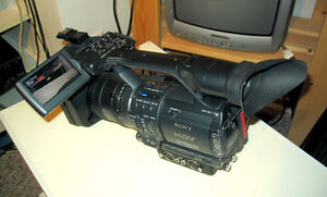 Sony HDR-FX1 professional HD Video camcorder.