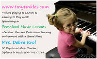Preschool Music Lessons - Register now - Summer Camps!
