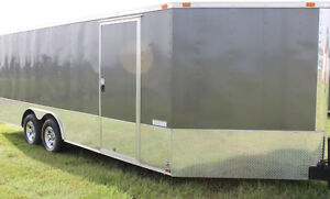 Enclosed Snowmobile Trailer 8.5 X 20