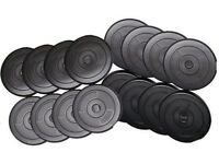 Vinyl Weight Training Plates, Weight Plates Standard 1 inch fitting: NEW