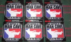 4 Pack's Of Man Cave Or Camo Neoprene Coasters