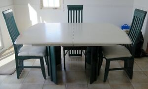 Set de salle à diner Stratifie,4 chaises Dining table and chairs