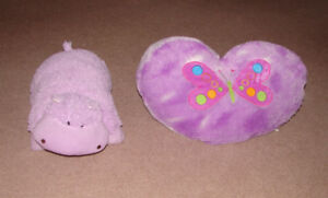 Hippo Pillow Buddy, Decorative Heart Butterfly Pillow
