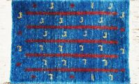 Hand Knotted Plush Wool Gabbeh Persian Rug