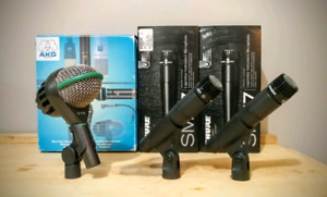 AKG D112 and SM57s