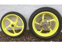 Motorcycle Race Wheels £375 ONO