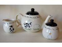 Price and kensington Home Farm Tea Pot,Sugar Bowl and Milk Jug.pristine condition.
