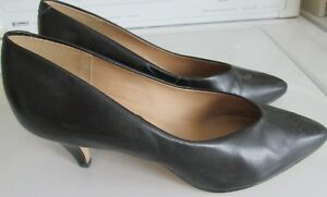 Navy Blue Leather Ladies shoes.