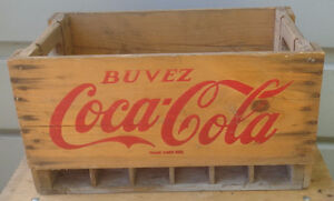 RP2176 Vintage Coca Cola Coke Soda Pop Wood Wooden Crate Case