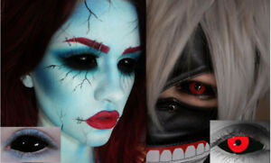HALLOWEEN SCLERA CONTACT LENSES ARE AT COSPLAY-FTW!!