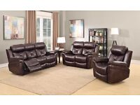 Gizzelle LEATHER RECLINER SOFAS, 3+2, Free Delivery